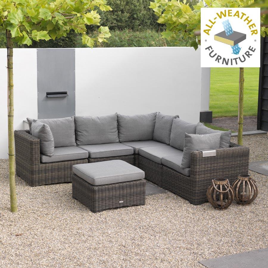 outdoor lounge sitzgruppe 6 teilig f r garten terrasse. Black Bedroom Furniture Sets. Home Design Ideas