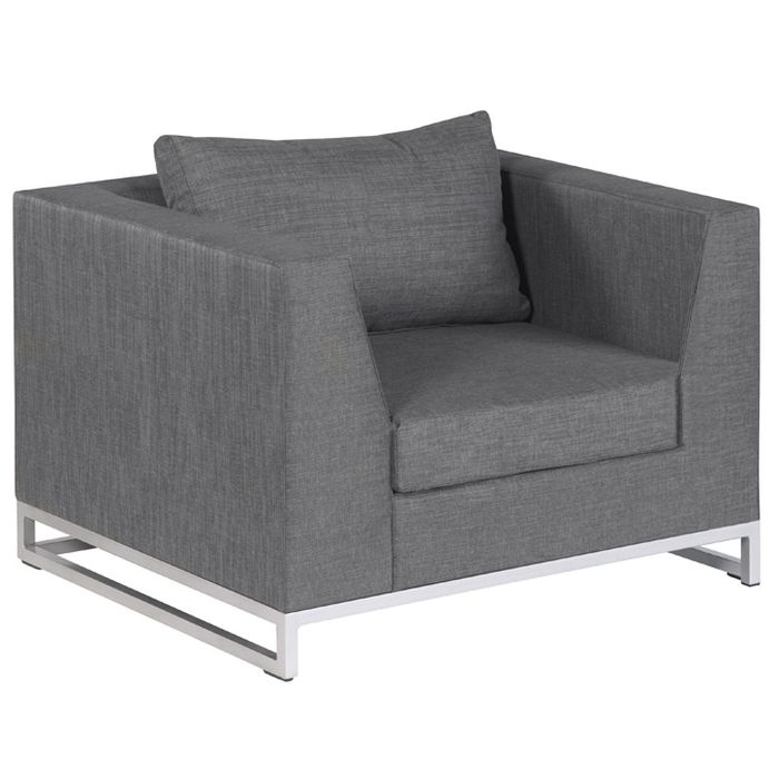 Exotan ibiza lounge sessel grau for Tv sessel grau