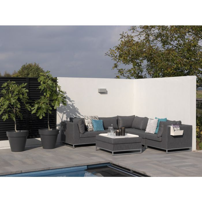 loungesessel f r draussen garten terrasse wetterfest lounge sessel bequem grau ebay. Black Bedroom Furniture Sets. Home Design Ideas
