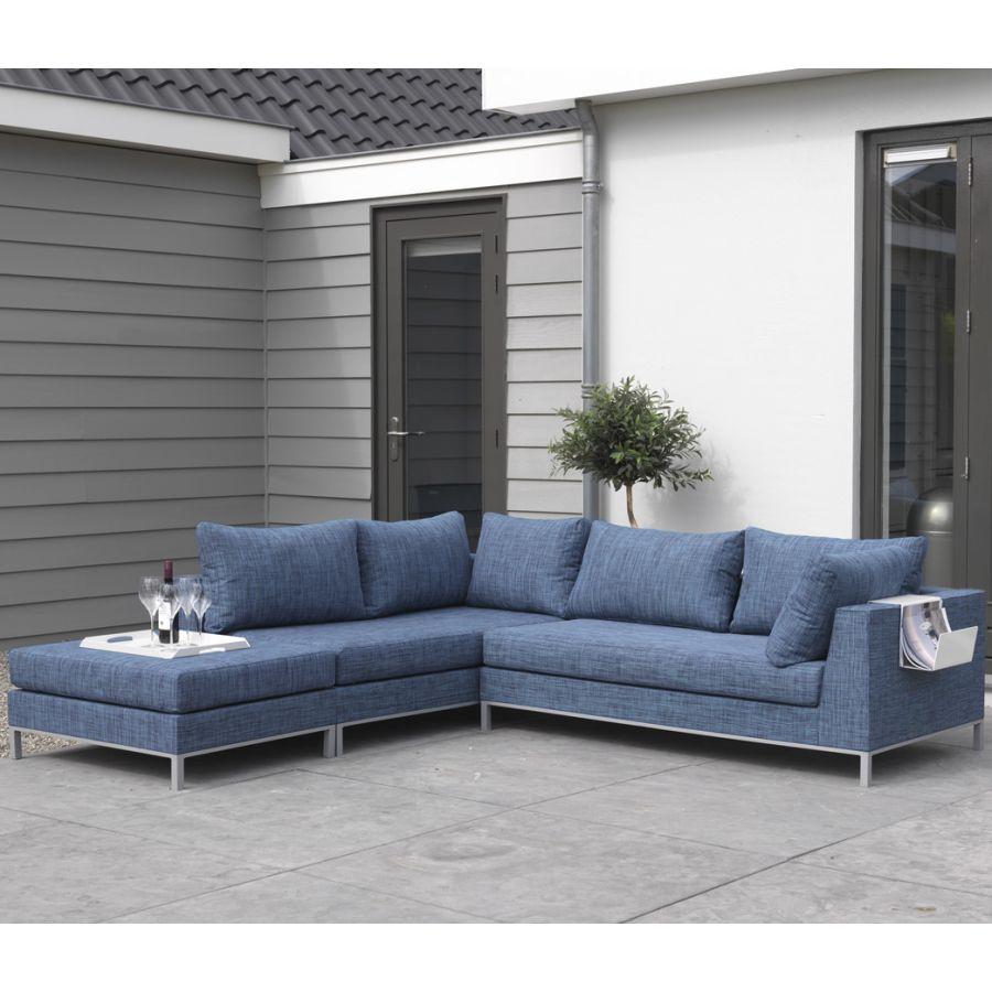 exotan casablanca lounge links blau wetterfest gartensofa sitzecke garten couch ebay. Black Bedroom Furniture Sets. Home Design Ideas