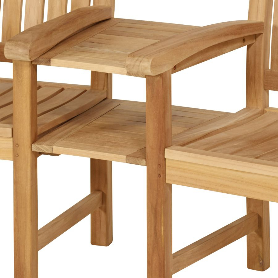 teakbank f r terrasse garten holzbank 2er bank sitzbank mit ablage tisch teak ebay. Black Bedroom Furniture Sets. Home Design Ideas