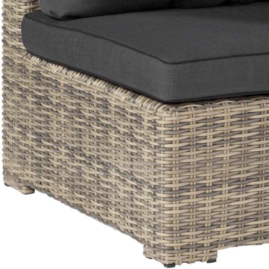 wetterfestes loungesofa sitzecke geflecht polster kissen wasserfest gartensofa ebay. Black Bedroom Furniture Sets. Home Design Ideas
