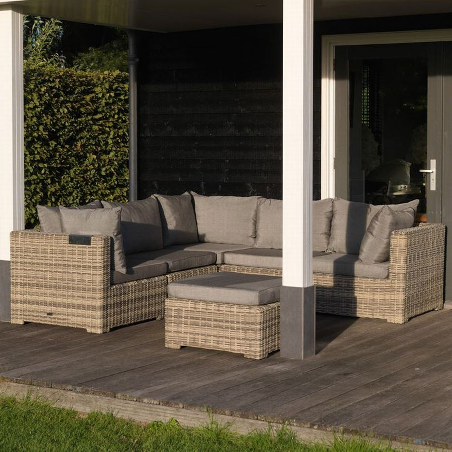 loungesofa lounge ecke garten sitzecke geflecht polster kissen wetterfest ebay. Black Bedroom Furniture Sets. Home Design Ideas