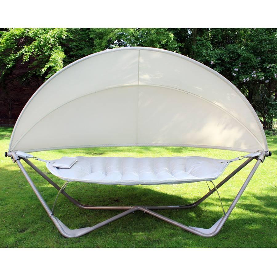 ploss gondola gross h ngematte schaukelliege mit st nder gestell mit dach ebay. Black Bedroom Furniture Sets. Home Design Ideas