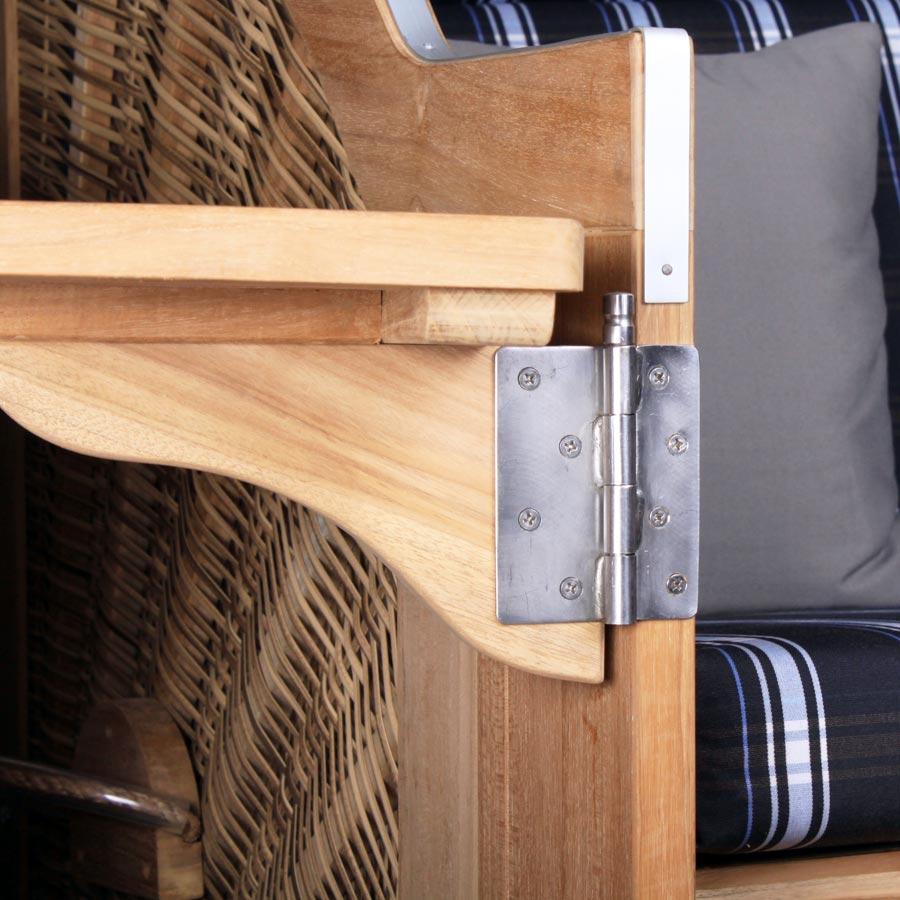 zusatz ersatz cocktailtisch klapptisch teak devries strandkorb pure comfort xl ebay. Black Bedroom Furniture Sets. Home Design Ideas