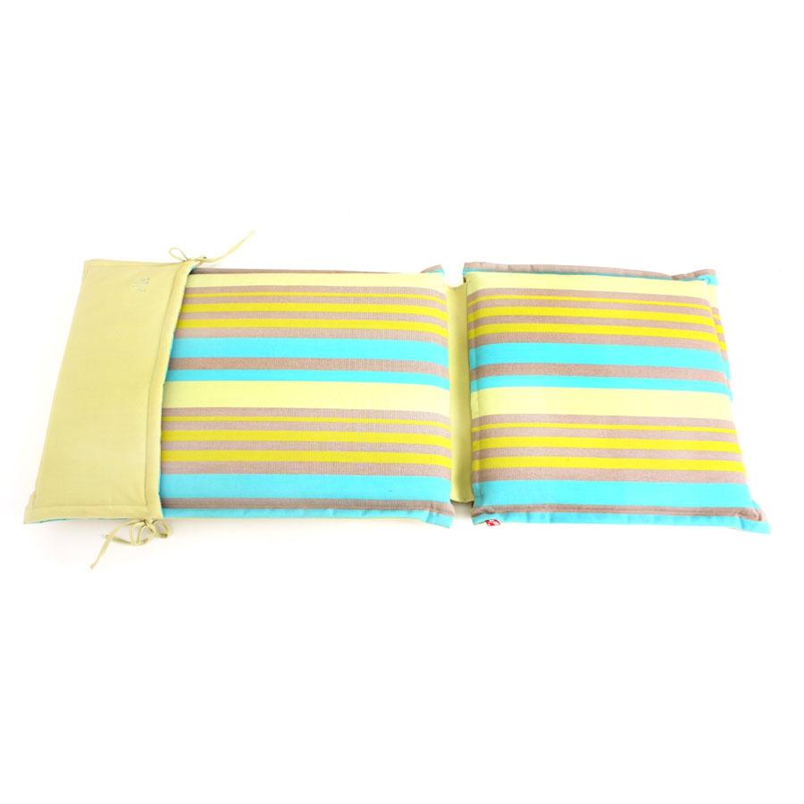 sitzauflage sitzpolster hochlehner 118 x 46 cm merhfarbig mit rei verschluss. Black Bedroom Furniture Sets. Home Design Ideas