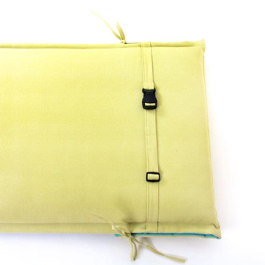 sitzauflage sitzpolster hochlehner 118 x 46 cm merhfarbig mit rei verschluss ebay. Black Bedroom Furniture Sets. Home Design Ideas