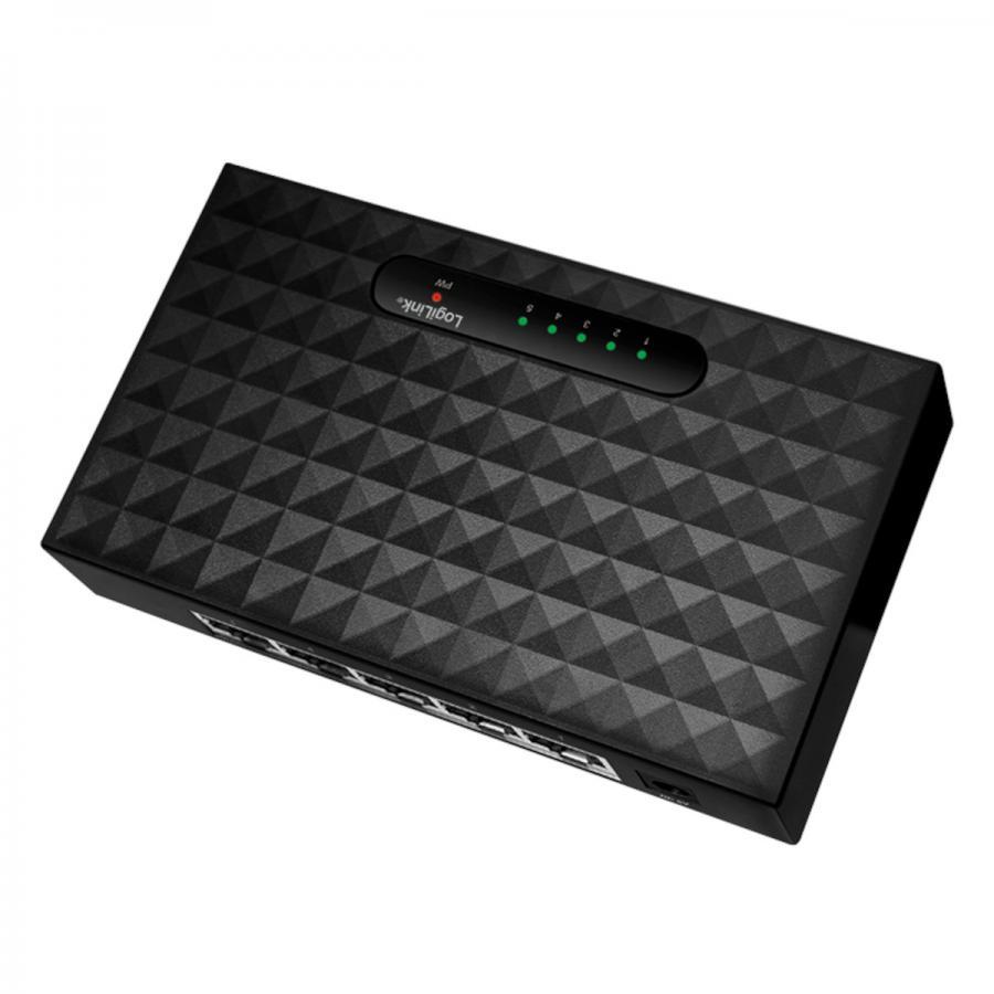 logilink gigabit switch 5 port netzwerkhub internet verteiler dsl kabel hub ebay. Black Bedroom Furniture Sets. Home Design Ideas