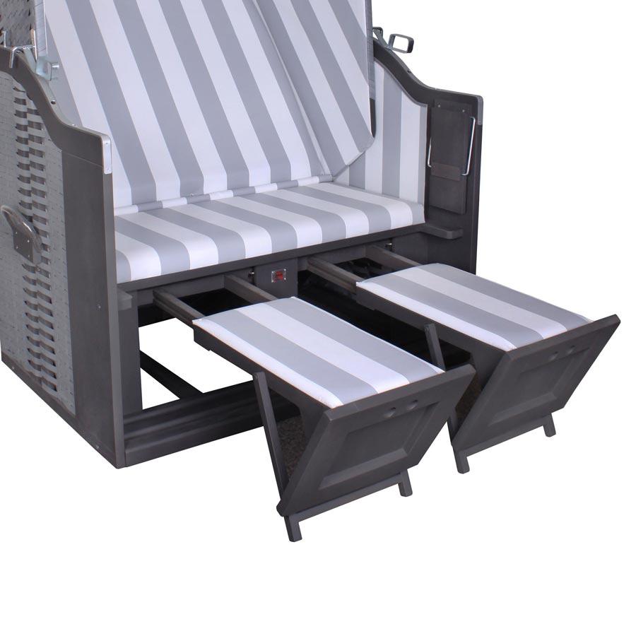 profi strandkorb devries fehmarn grey dessin 989. Black Bedroom Furniture Sets. Home Design Ideas