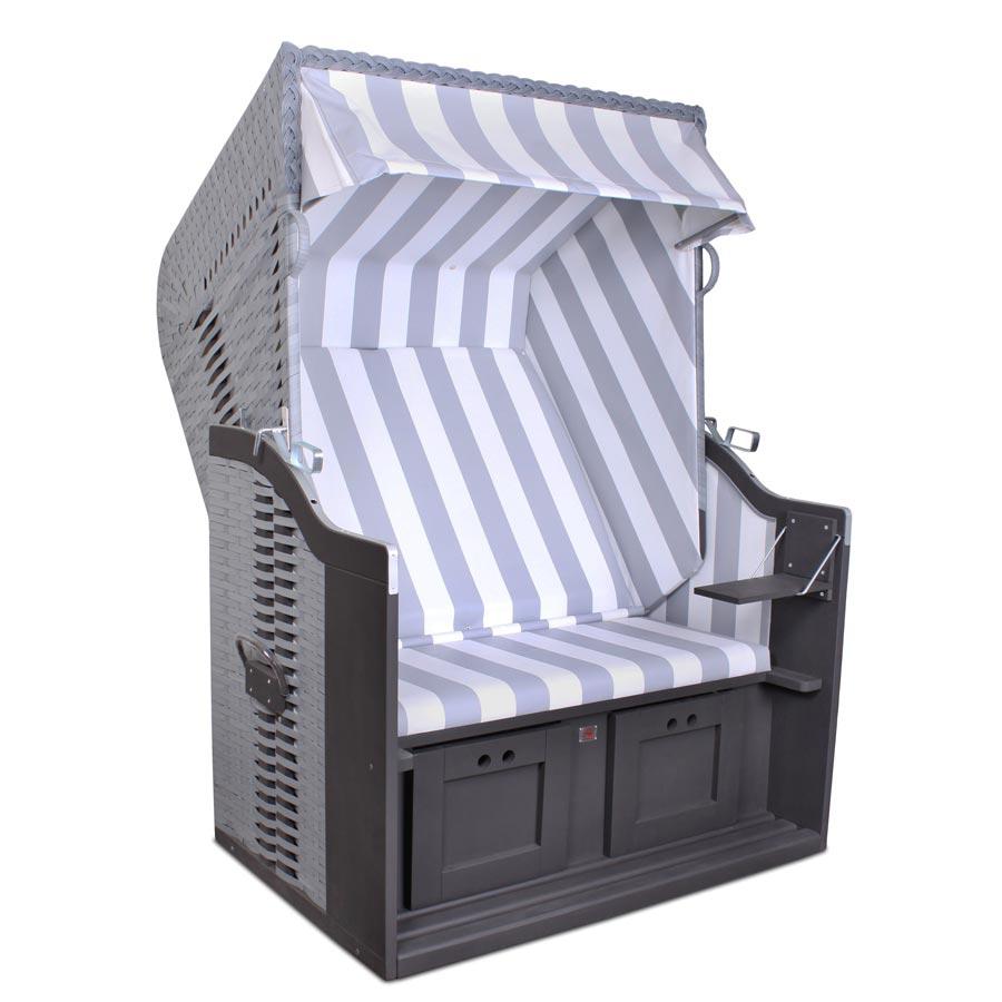 original devries profi ostsee strandkorb fehmarn 989 hotel ferienhaus grau weiss ebay. Black Bedroom Furniture Sets. Home Design Ideas