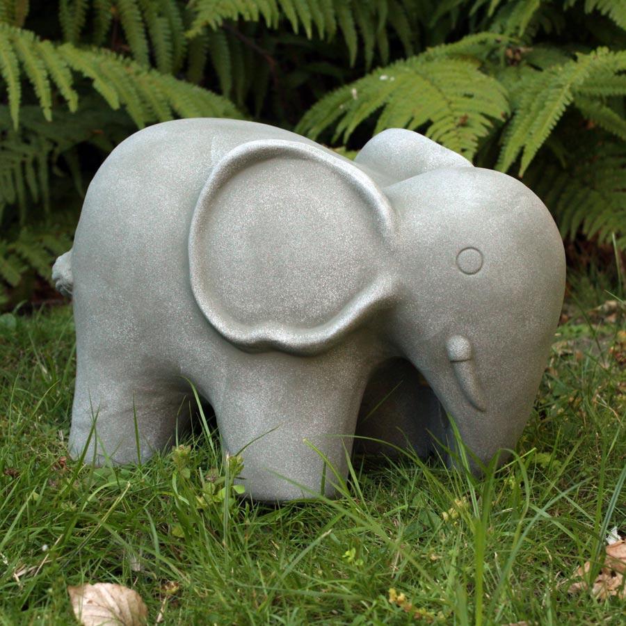 Keramik deko figur elefant 23cm f r haus und garten - Keramik katzen fur garten ...