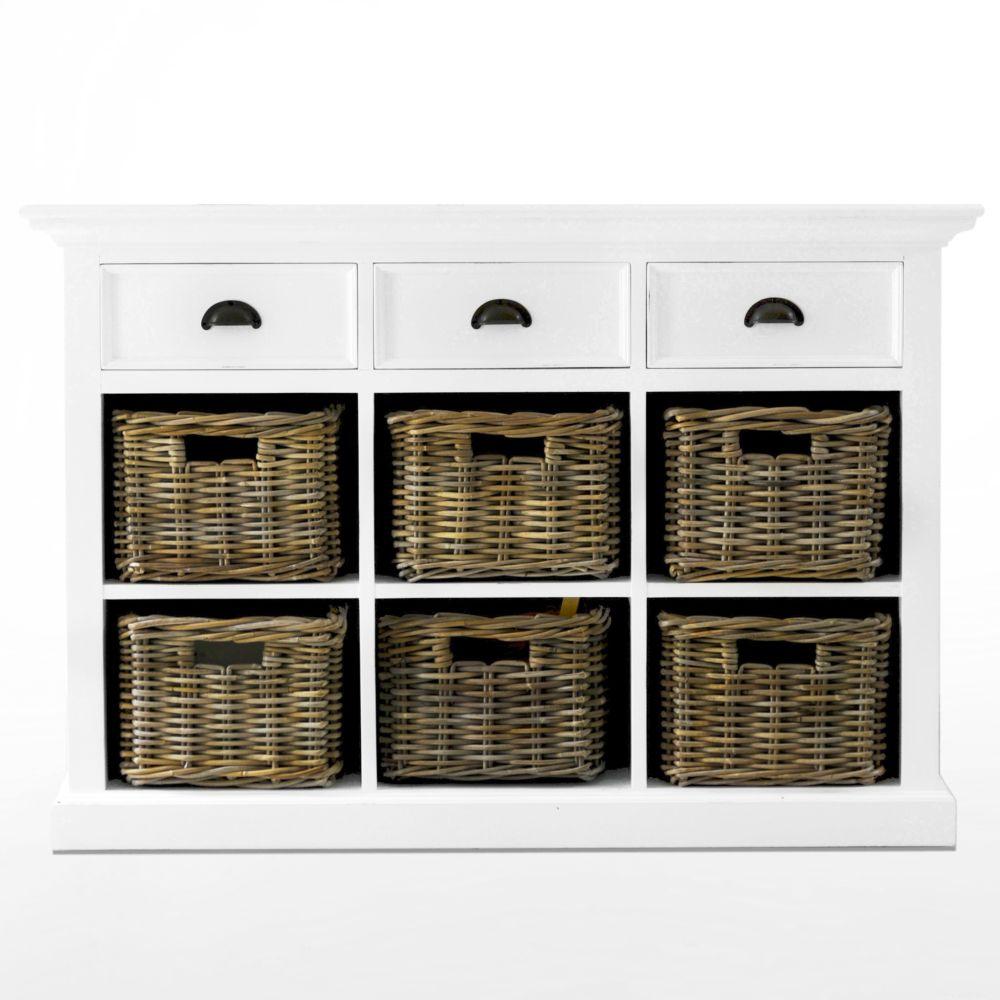 b128 buffetschrank kommode mit 6 k rben kollektion halifax. Black Bedroom Furniture Sets. Home Design Ideas