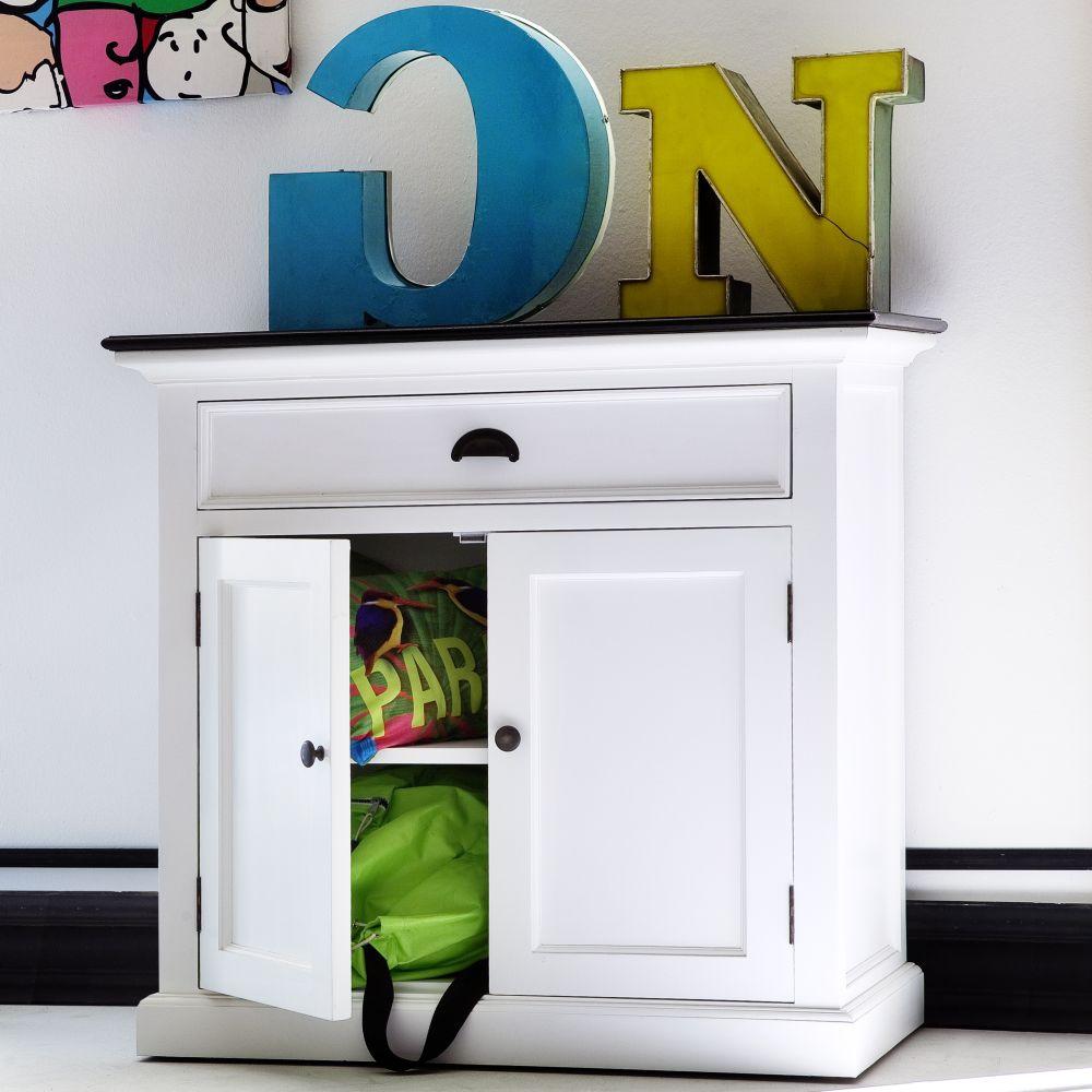sideboard anrichte kommode weiss mit platte in schwarz 90 breit 86 hoch 2 t ren ebay