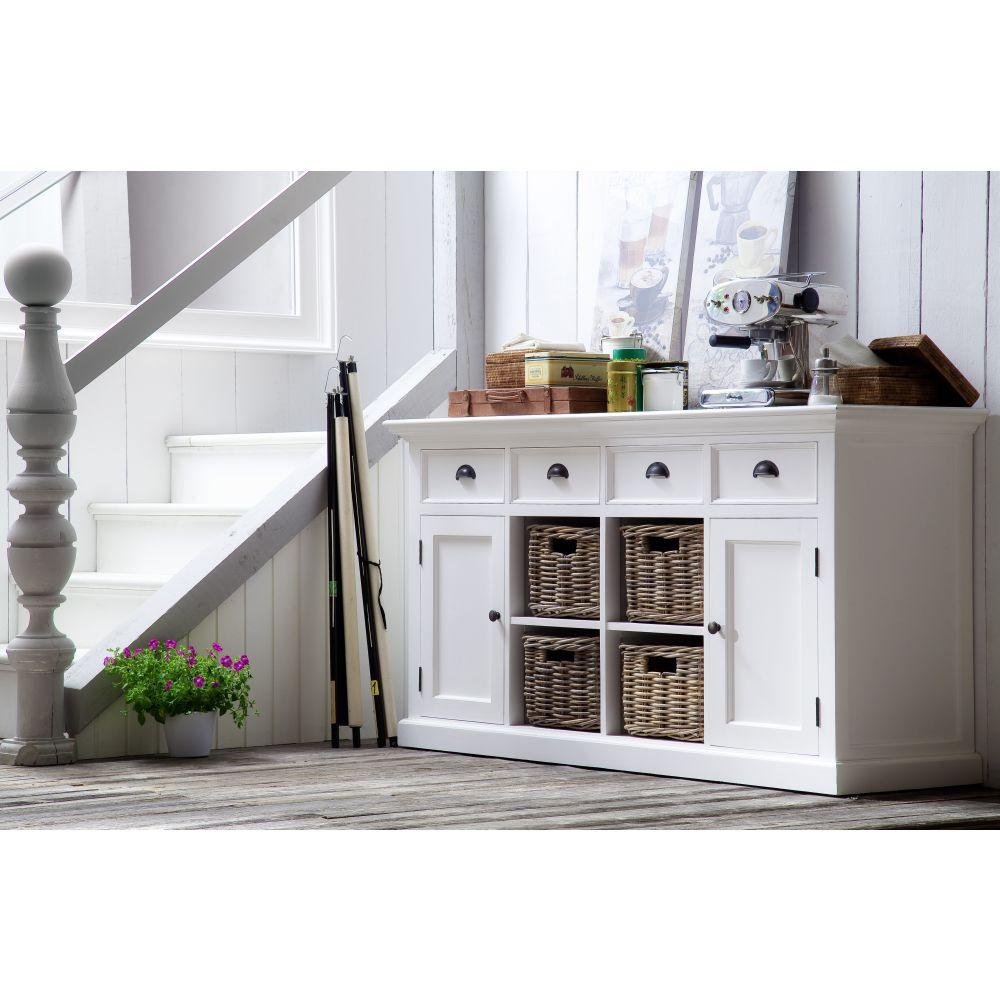 b189 buffetschrank kommode mit 4 k rben kollektion halifax. Black Bedroom Furniture Sets. Home Design Ideas