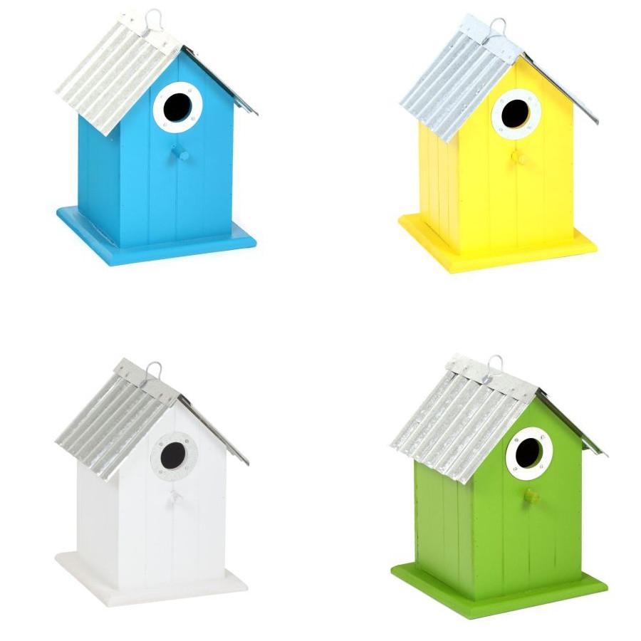 vogelhaus aus holz zum aufh ngen oder aufstellen gr n. Black Bedroom Furniture Sets. Home Design Ideas