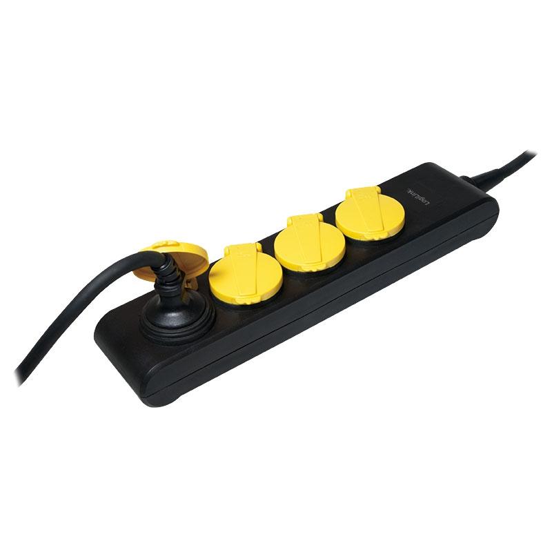 steckerverteiler 4 fach steckdosenverteiler f r garten drau en au eneinsatz ebay. Black Bedroom Furniture Sets. Home Design Ideas