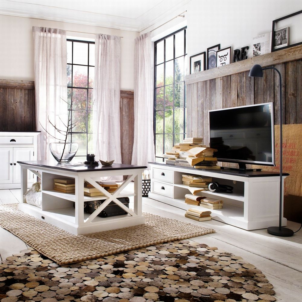 tv schrank sideboard massiv shabby look novasolo weiss. Black Bedroom Furniture Sets. Home Design Ideas