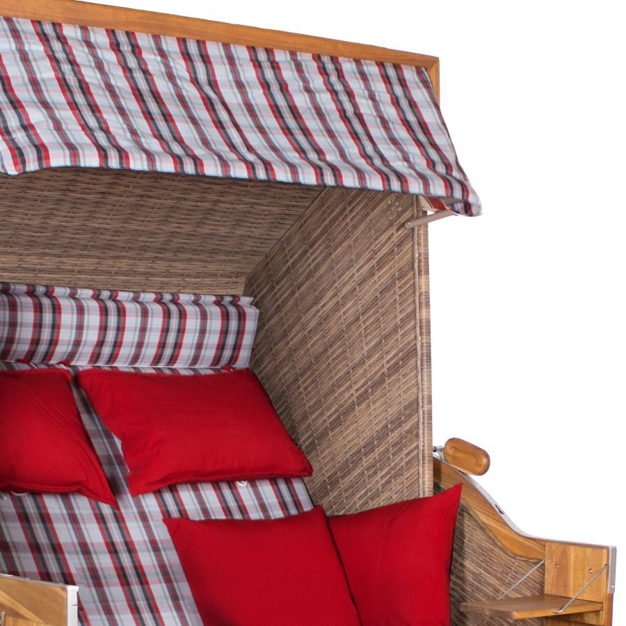 strandkorb devries trendy pure greenline 140 xl dessin 700 walnut vollgeflecht ebay. Black Bedroom Furniture Sets. Home Design Ideas