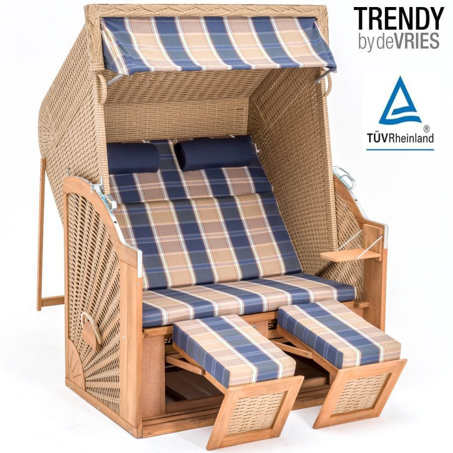 teak strandkorb devries trendy pure classic xl sun arurog. Black Bedroom Furniture Sets. Home Design Ideas