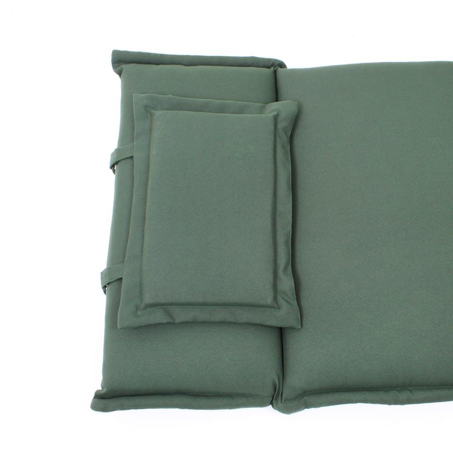 auflage f liege gartenliege sonnenliege polsterauflage 196 x 58cm waschbar gr n ebay. Black Bedroom Furniture Sets. Home Design Ideas