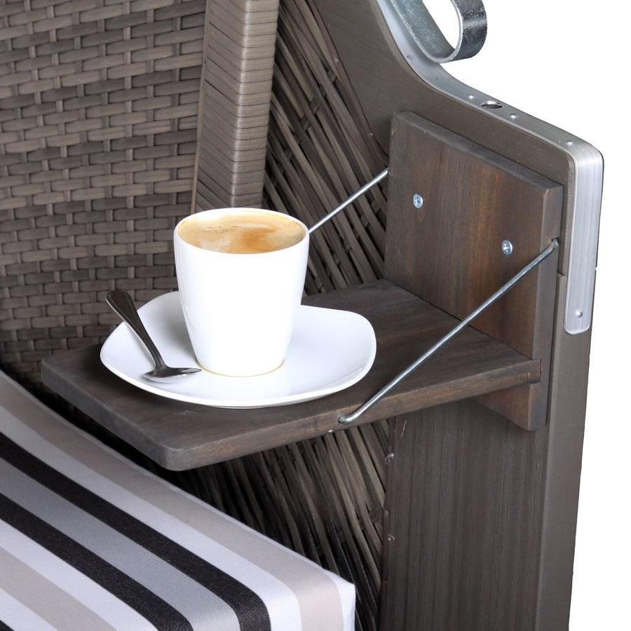 devries extra zusatztisch strandkorb trend 30 40 50 greenline 120 140xl grau ebay. Black Bedroom Furniture Sets. Home Design Ideas