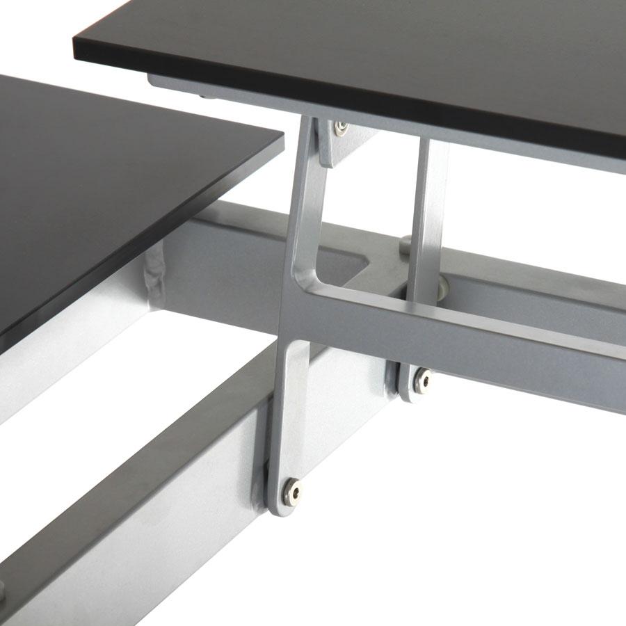 alu tisch roggemann 120x80x45 cm 4 verstellbare hpl platten wetterfest lounge ebay. Black Bedroom Furniture Sets. Home Design Ideas