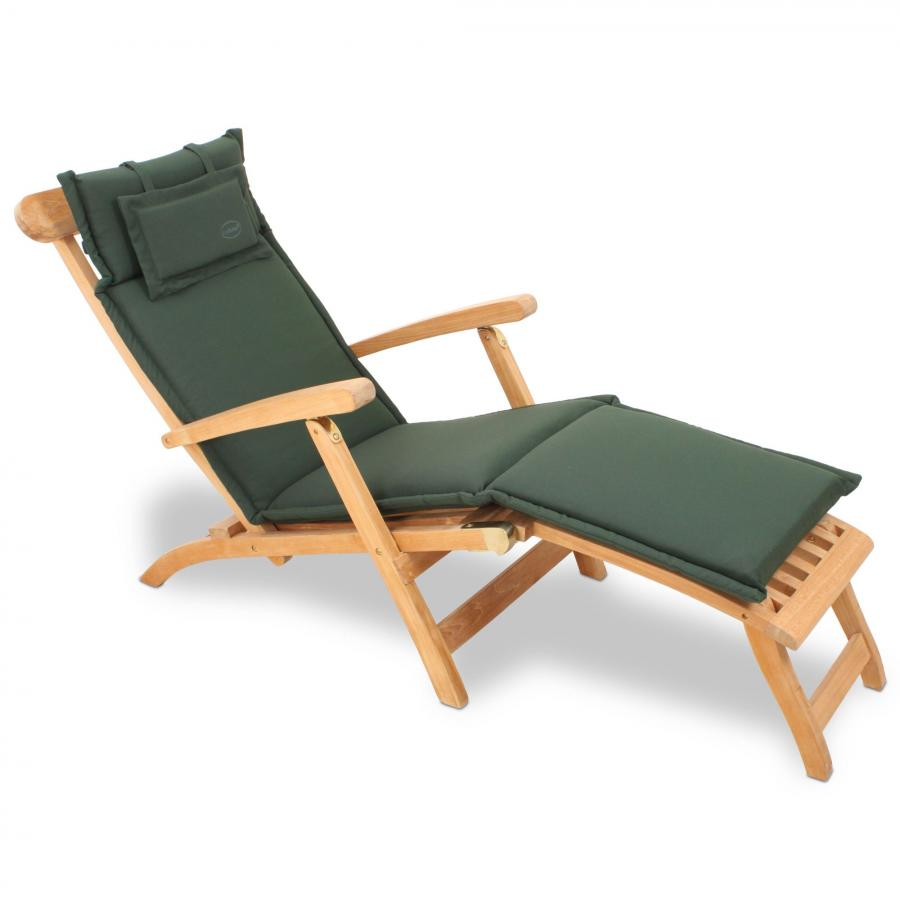 polyester auflage polster kissen f r deckchair liegestuhl liege 184x46 cm gr n ebay. Black Bedroom Furniture Sets. Home Design Ideas