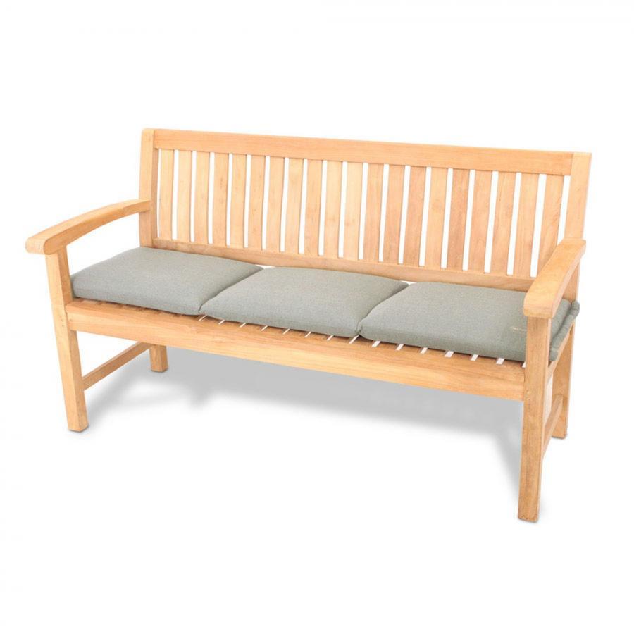 vivagardea sitzkissen f r 3 sitzer gartenbank dick waschbar 150x45 grau ebay. Black Bedroom Furniture Sets. Home Design Ideas