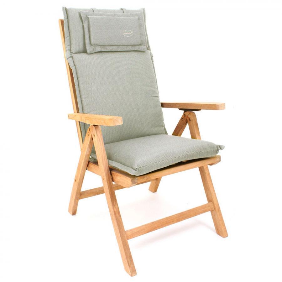 auflage polster kissen stuhl hochlehner taupe grau waschbar reissverschluss ebay. Black Bedroom Furniture Sets. Home Design Ideas