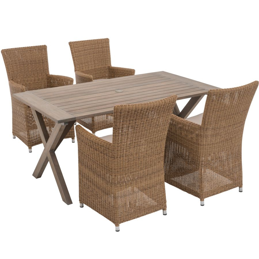 viva gardea al9901 geflechtsessel melbourne f r haus und garten polyrattan ebay. Black Bedroom Furniture Sets. Home Design Ideas