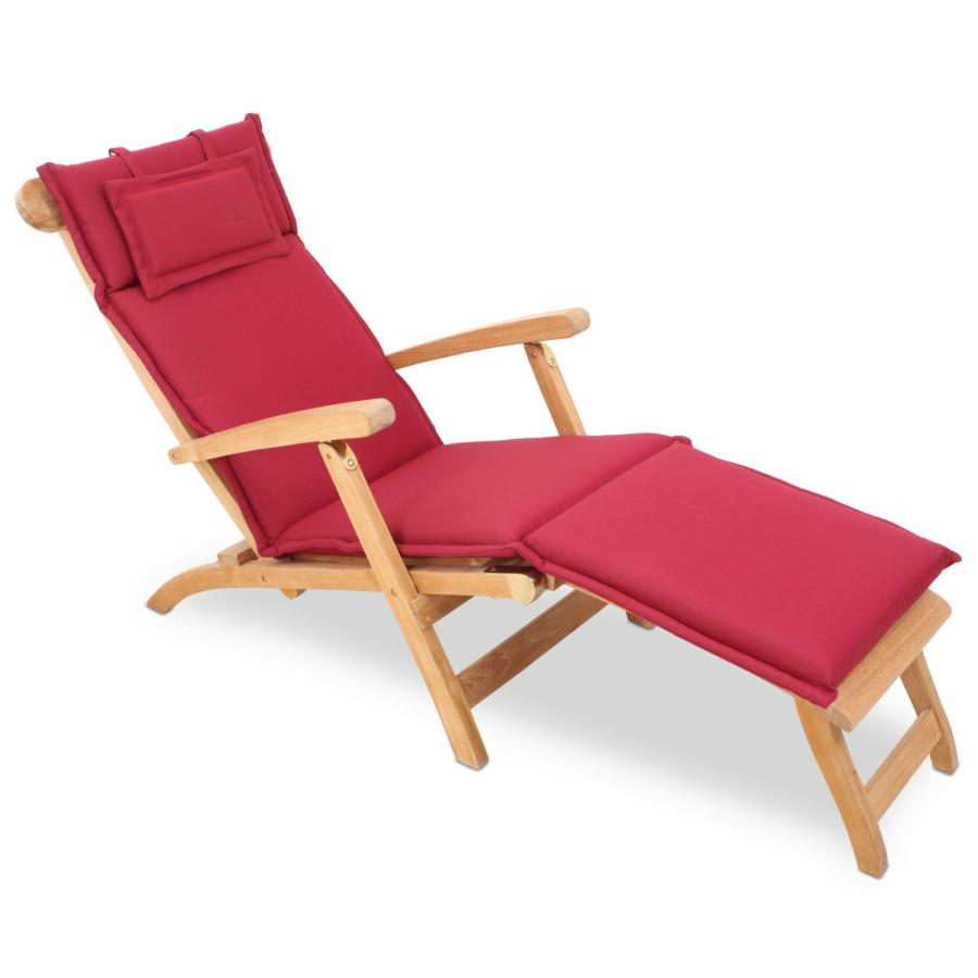 roggardenline auflage f r liegestuhl deckchair bordeaux rot laden in hamburg. Black Bedroom Furniture Sets. Home Design Ideas