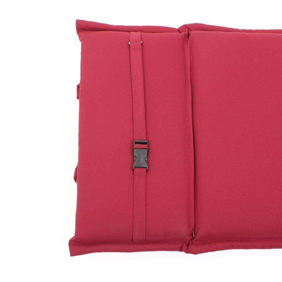 auflage polster kissen liege liegestuhl rot bordeaux deckchair vivagardea ebay. Black Bedroom Furniture Sets. Home Design Ideas