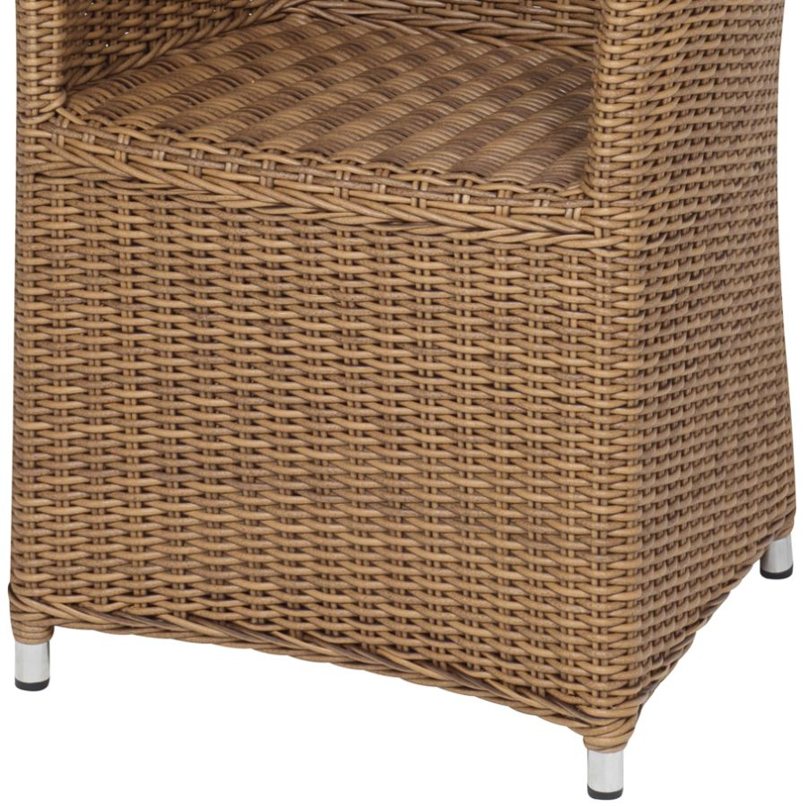 al9911 geflechtsessel sydney cappuccino hochlehner gartenstuhl aus geflecht ebay. Black Bedroom Furniture Sets. Home Design Ideas