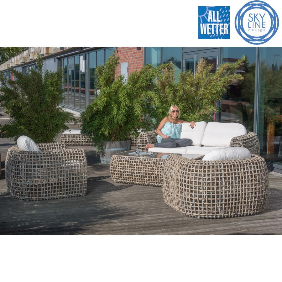 lounge sofa garten terrasse gastro qualit t skyline design outdoor couch ebay. Black Bedroom Furniture Sets. Home Design Ideas