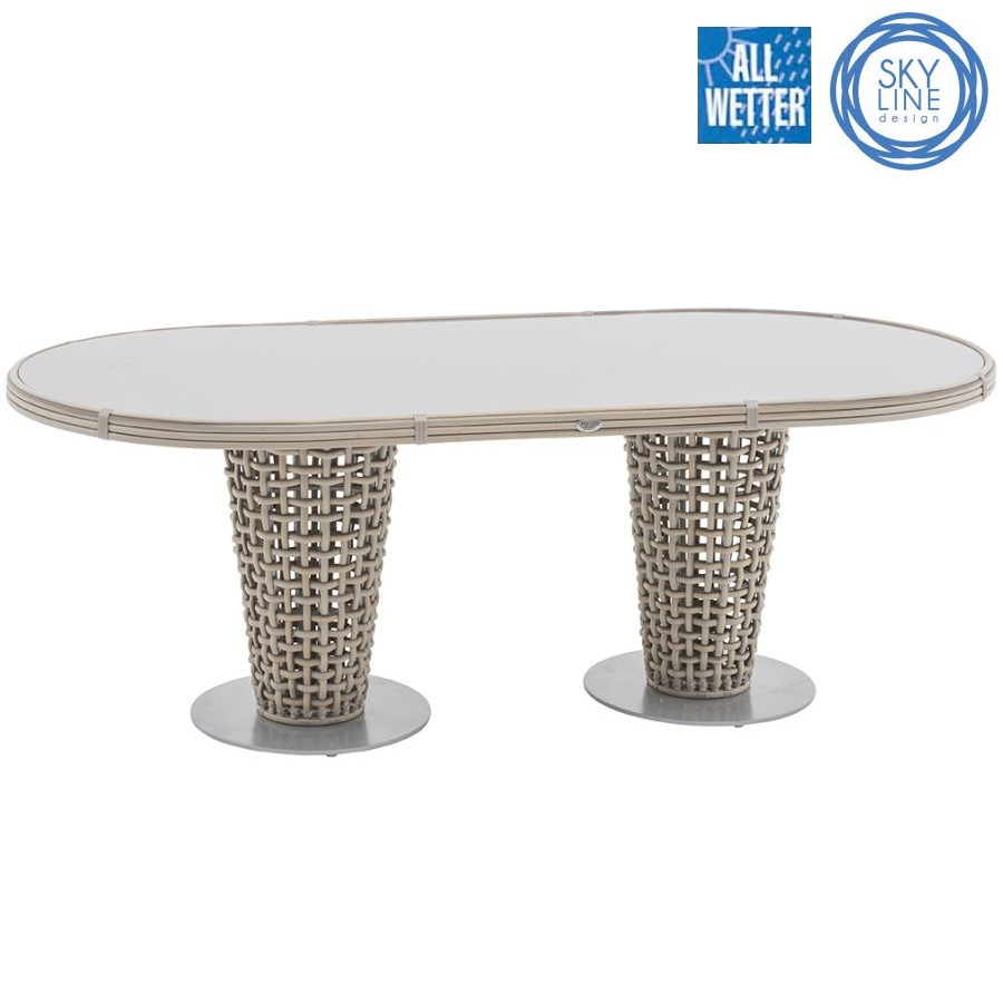 Skyline design dynasty tisch dining table oval lounge for Esstisch oval glas