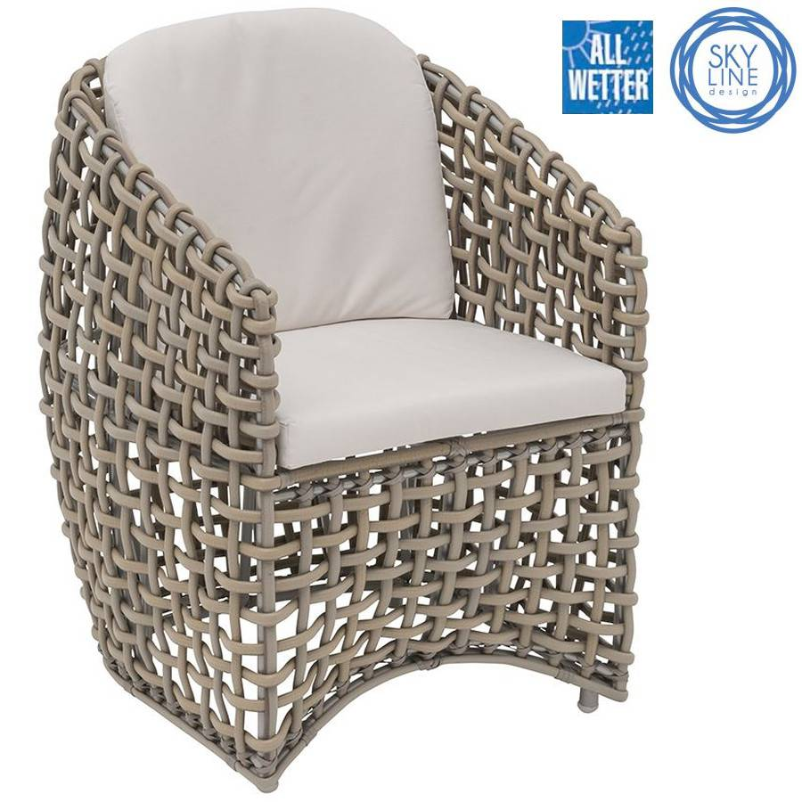 lounge sessel stuhl dining armchair grosses geflecht skyline design outdoor ebay