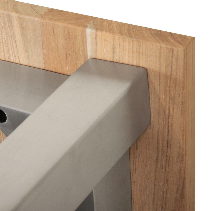 tl8802 teak edelstahl tisch oslo fest 230x95 cm. Black Bedroom Furniture Sets. Home Design Ideas