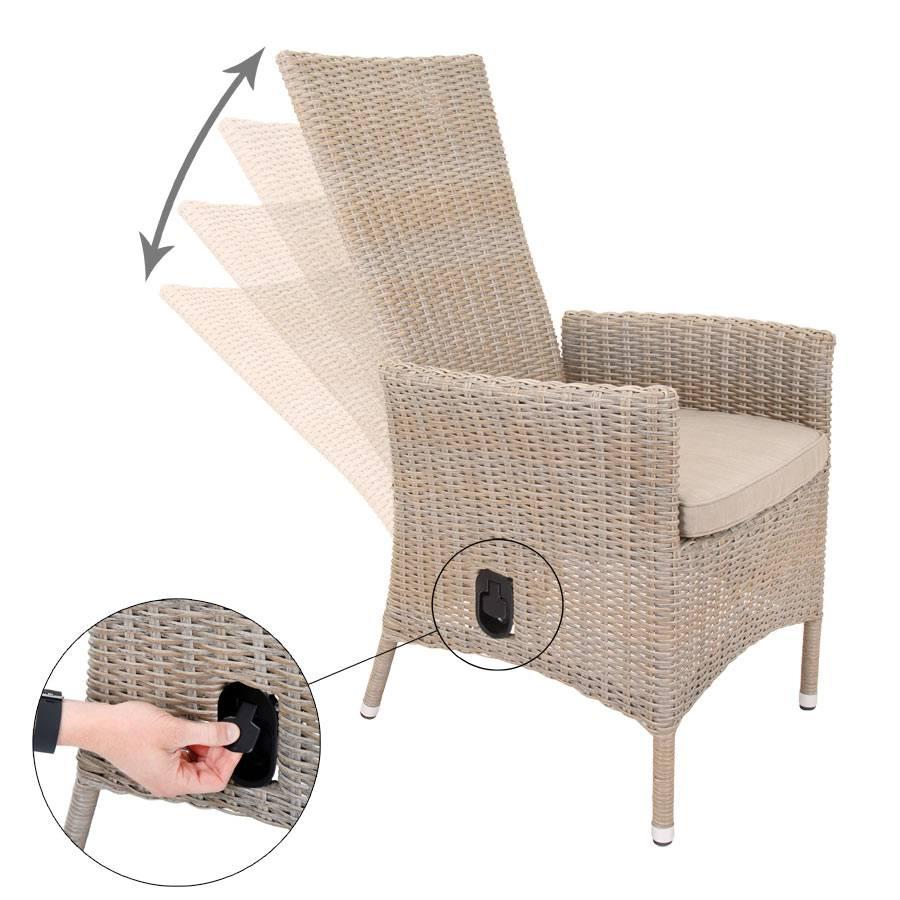 vivagardea® ancona relax-sessel mit verstellbarer rÜckenlehne sand, Innedesign