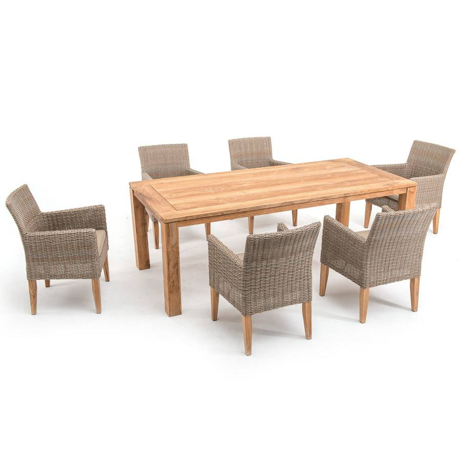 Dinner stuhl vivagardea ancona beige polyrattan alu for Design stuhl geflecht