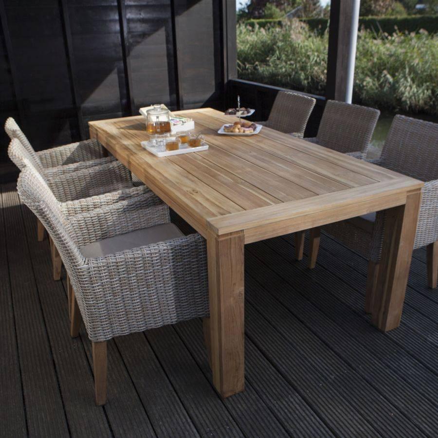 exotan sienna dining geflecht stuhl mit kissen und teak f ssen sand grey teak. Black Bedroom Furniture Sets. Home Design Ideas