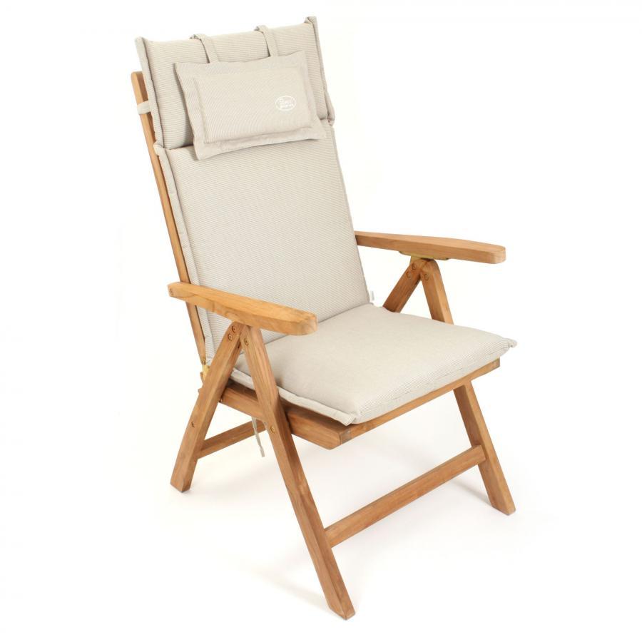 Roggemann auflage polster kissen stuhl hochlehner natur for Auflage schaukelstuhl natur
