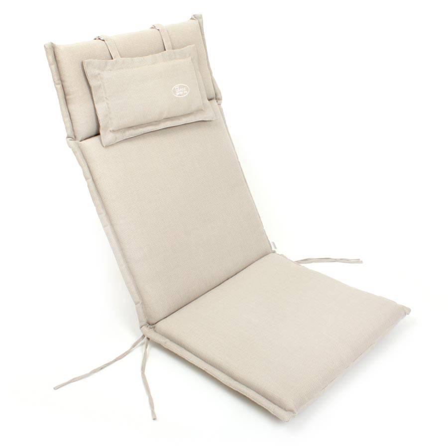 Vivagardea auflage polster kissen stuhl hochlehner natur for Auflage schaukelstuhl natur