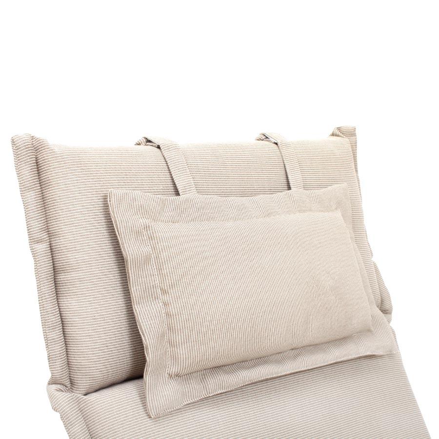 auflage polster kissen stuhl hochlehner beige creme waschbar reissverschluss ebay. Black Bedroom Furniture Sets. Home Design Ideas