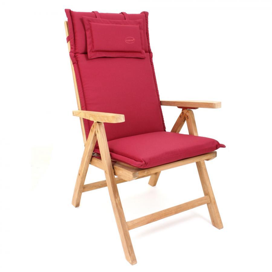 auflage polster kissen stuhl hochlehner bordeaux waschbar mit reissverschluss ebay. Black Bedroom Furniture Sets. Home Design Ideas
