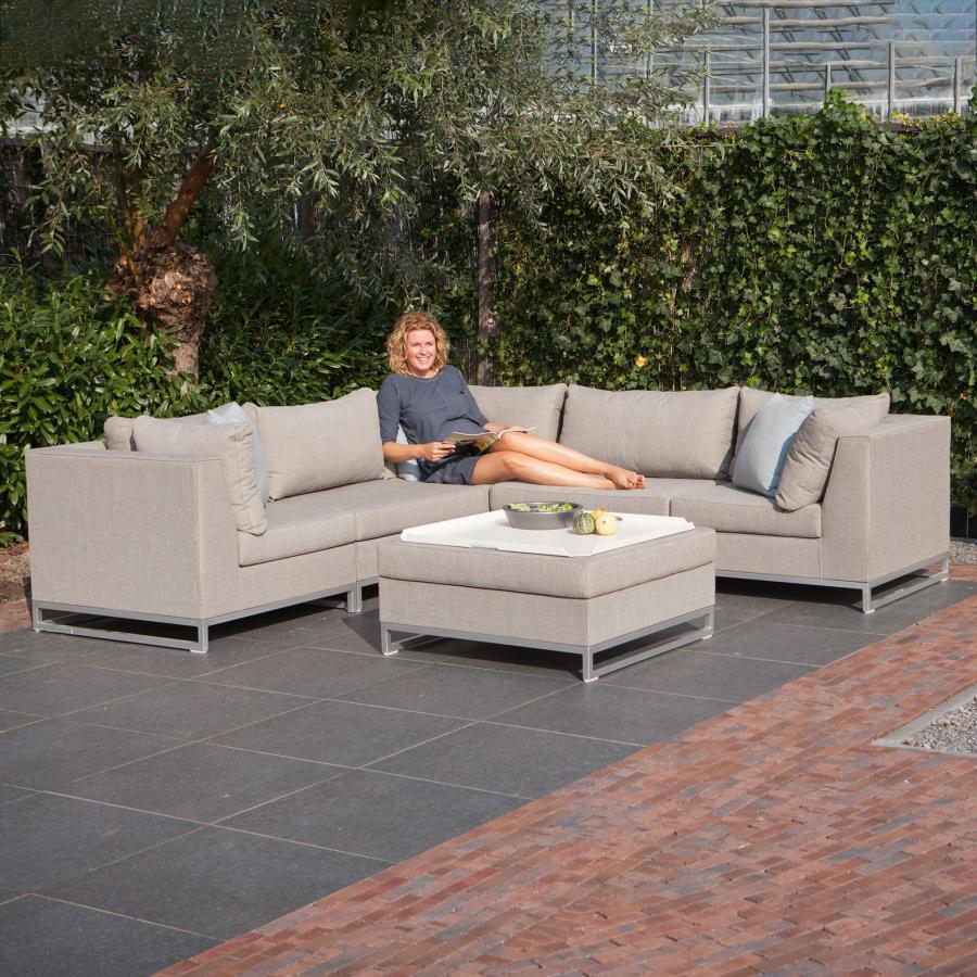 exotan nanotex cannes lounge sessel vivagardea beige hell. Black Bedroom Furniture Sets. Home Design Ideas