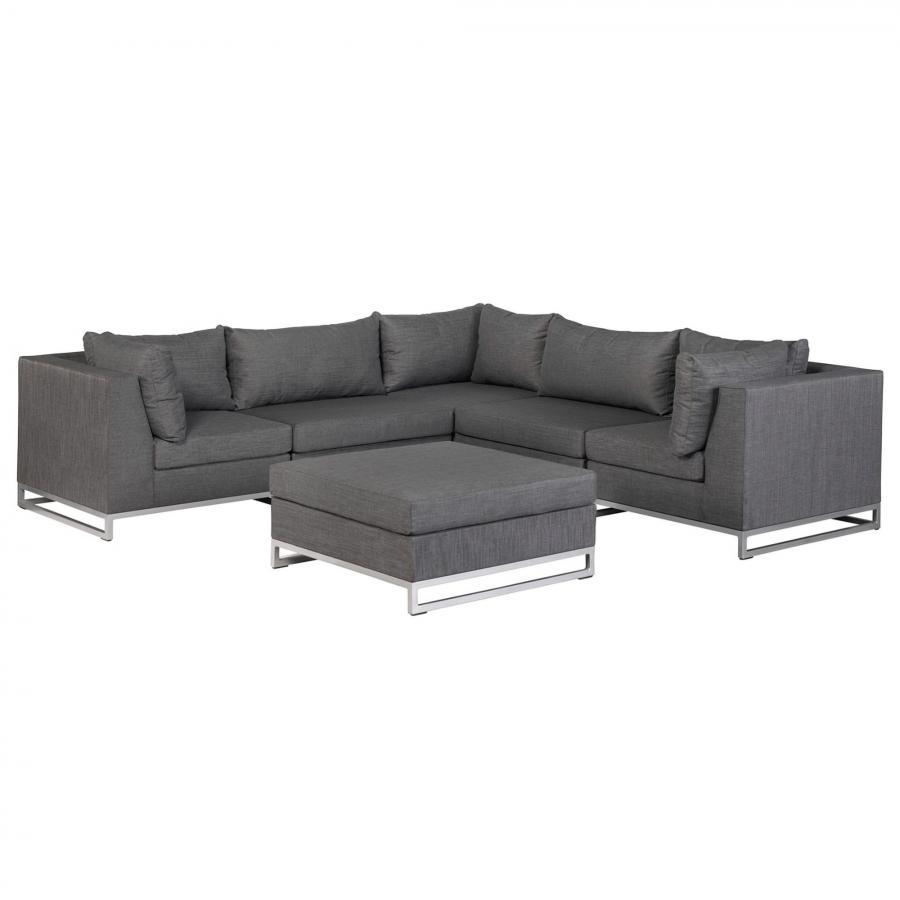 outdoor sitzgarnitur wetterfest lounge sitzgruppe exotan nanotex persoon grau ebay. Black Bedroom Furniture Sets. Home Design Ideas