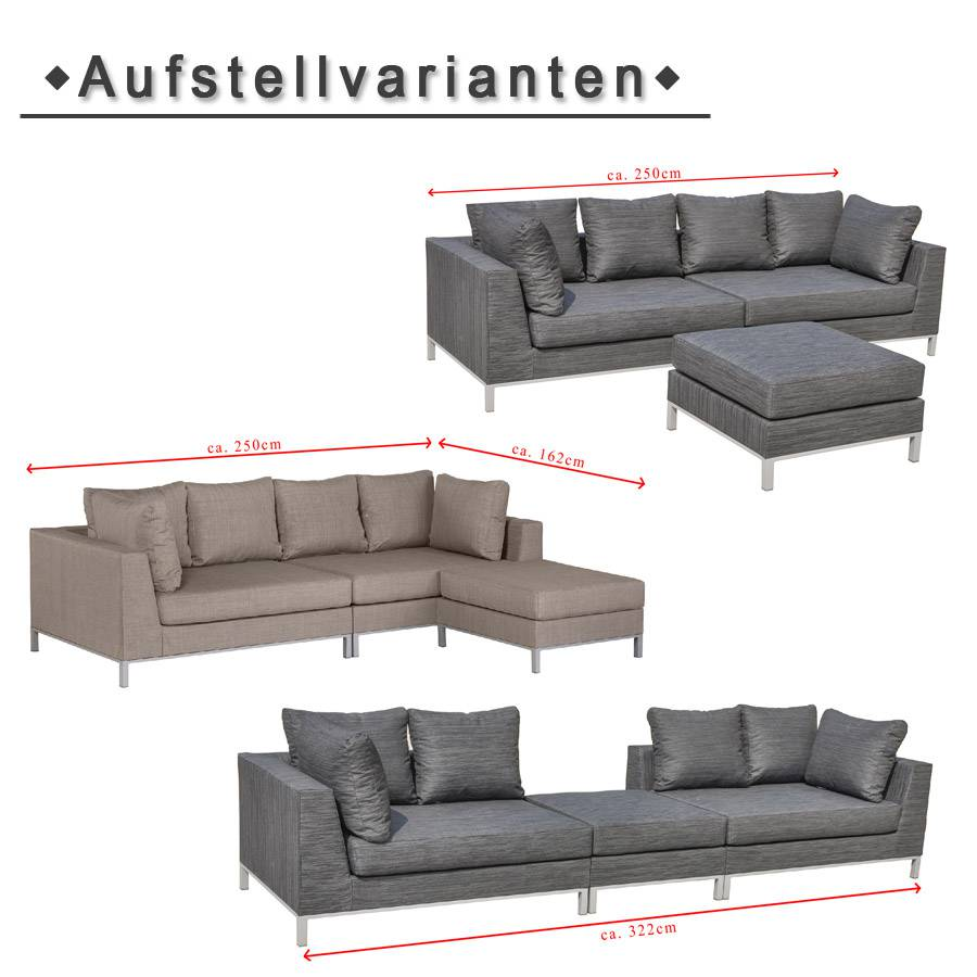 vivagardea lounge garnitur st tropez wetterfest beige gartenlounge sitzecke sofa ebay. Black Bedroom Furniture Sets. Home Design Ideas