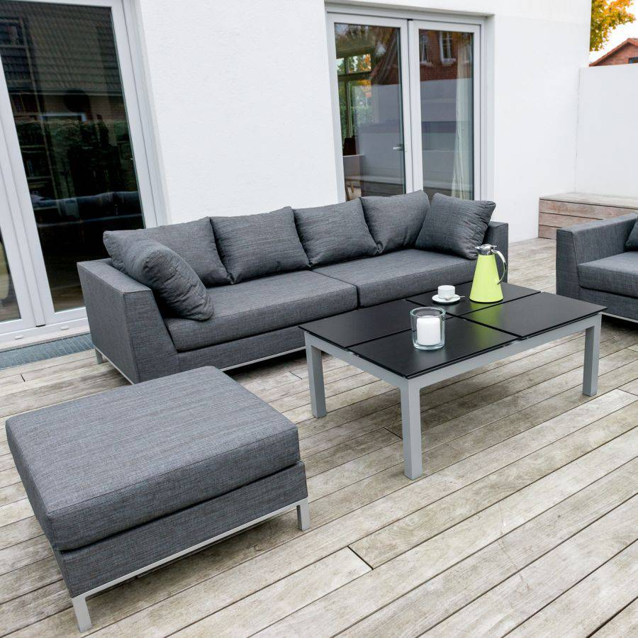 vivagardea lounge set st tropez garten sitzgarnitur grau outdoor couch roggemann ebay. Black Bedroom Furniture Sets. Home Design Ideas