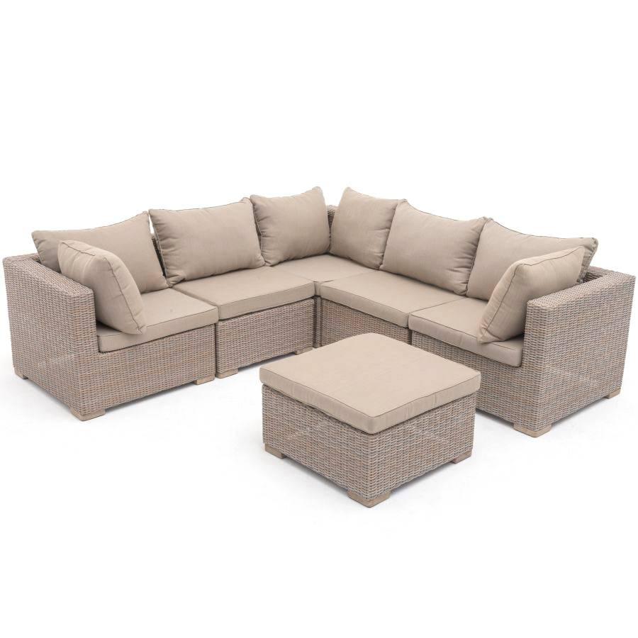 exotan garten lounge gartensofa eckcouch hell aluminium polyrattan roggemann ebay. Black Bedroom Furniture Sets. Home Design Ideas