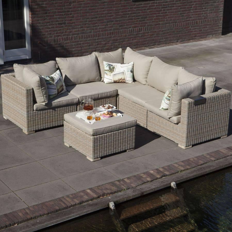 exotan sienna lounge outdoor sitzgruppe 6 teilig sand grey khaki beige persoon ebay. Black Bedroom Furniture Sets. Home Design Ideas